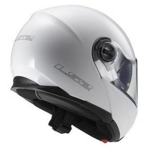 LS2-FF325-Strobe-Motorcycle-Helmet-solid-gloss-white-rear-view