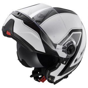 ls2-strobe-civik-crash-helmet-black-white-chin-guard-up-top-view