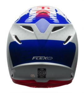 Bell-Moto-9-Flex-Vice-Blue-Red-rear-view