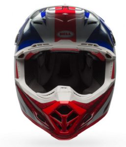 Bell-Moto-9-Flex-helmet-Vice-Blue-Red-front-view