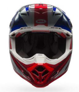 Bell-Moto-9-Flex-helmet-Vice-Blue-Red-front-view