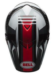 Bell-Moto-9-Flex-motocross-crash-helmet-Vice-Black-White-top-view