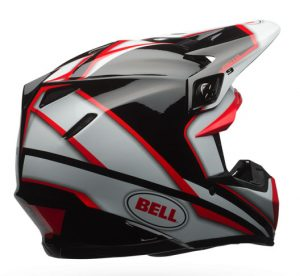 Bell-Moto-9-Spark-red-black-motocross-helmet-rear-view