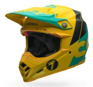 bell-moto-9-flex-motocross-helmet-seven-yellow-front-view