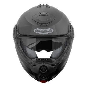 caberg-droid-modular-crash-helmet-matt-black-front-view