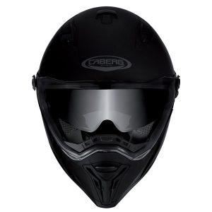 caberg-stunt-matt-black-motorcycle-crash-helmet-front-view
