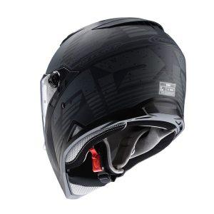 caberg-stunt-motorbike-helmet-blizzard-black-anthracite-rear-view