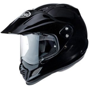 arai-tour x 4-diamond gloss black-dual-sport-helmet-side-view