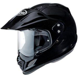 arai-tour x 4-diamond gloss black-dual-sport-helmet-side-view
