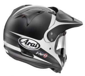 arai xd4 Tour X4 route black white crash helmet rear view