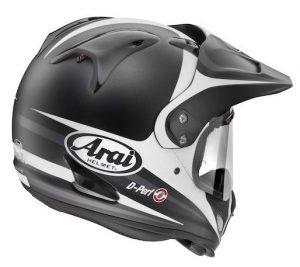 arai xd4 Tour X4 route black white crash helmet rear view