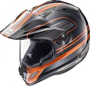 arai-xd4-distance-orange-dual-sport-helmet-side-view