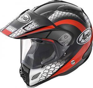 arai-xd4-mesh-red-motorcycle-helmet-top-side-view