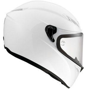 AGV-Veloce-S-motorcycle-crash-helmet-mono-pearl-white-side-view