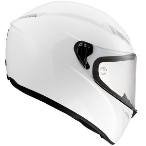 AGV-Veloce-S-motorcycle-crash-helmet-mono-pearl-white-side-view