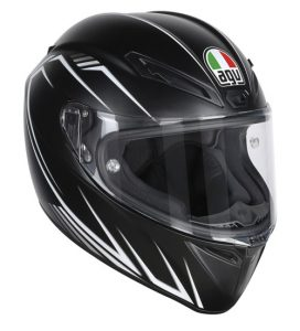 AGV-Veloce-S-motorcycle-helmet-prediatore-matt-black-front-view