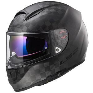 ls2 ff397 vector carbon solid full face motorcycle crash helmet front view