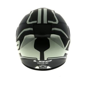 ls2 ff397 vector orion full face motorcycle crash helmet rear view
