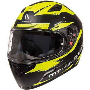 mt-mugello-vapour-black-fluo-yellow-full-face-motorcycle-helmet-front-view