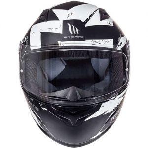 mt-mugello-vapour-black-white-motorbike-helmet-front-view