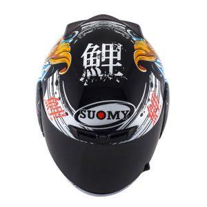 suomy-apex-jap-black-gold-crash-helmet-top-down-view