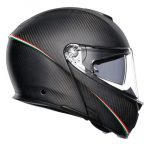 agv sportmodular tricolore motorcycle helmet side view