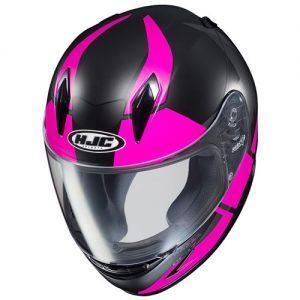 HJC-CLY-Boost-pink-black-motorcycle-crash-helmet-top-view