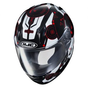 HJC-CLY-Simtic-red-black-white-crash-helmet-top-view