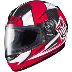 HJC-CLY-Striker-red-black-white-crash-helmet-side-view