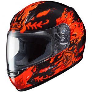HJC-CLY-flame-face-orange-black-crash-helmet-side-view