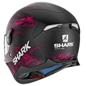 shark-skwal-2-motorcycle-helmet-hiya-graphics-pink-black-rear-view