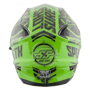speed-and-strength-ss1600-sure-shot-green-crash-helmet-rear-view