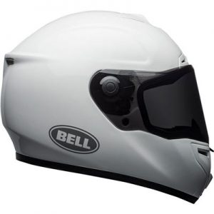 Bell-SRT-full-face-crash-helmet-gloss-white-side