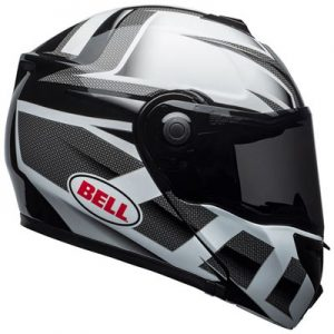 Bell-SRT-modular-crash-helmet-predator-black-white-side-view