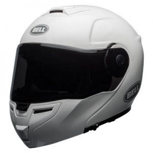 Bell-SRT-modular-crash-helmet-solid-gloss-white-front