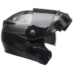 Bell-SRT-modular-helmet-Blackout-side-view-opened