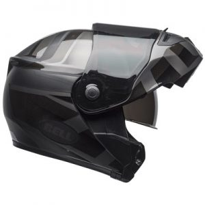 Bell-SRT-modular-helmet-Blackout-side-view-opened