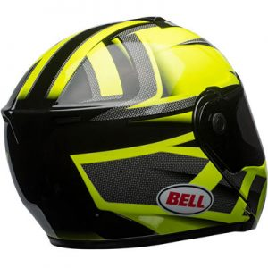 Bell-SRT-modular-motorbike-helmet-predator-yellow-rear-view