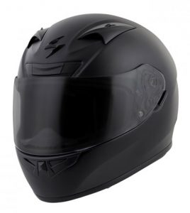 scorpion-exo-r710-motorcycle-crash-helmet-matt-black-front-view