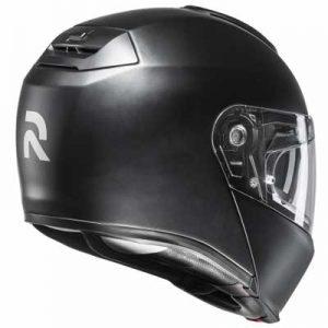 HJC-RPHA-90-flip-up-helmet-matt-black-rear-view