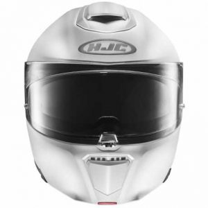 HJC-RPHA-90-semi-flat-white-crash-helmet-front-view