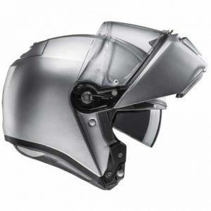 HJC-RPHA-90-silver-modular-crash-helmet-side-view-open