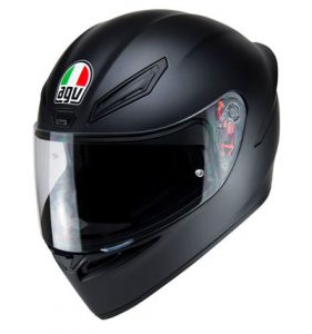 agv-k1-motorbike-crash-helmet-matt-black-side-view