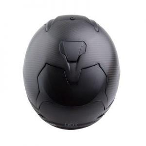 6D ATS 1 full face carbon fiber helmet matt top view