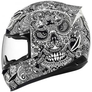 Icon-Airmada-chantilly-black-white-motorcycle-helmet-side-view