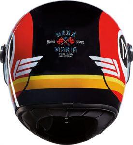 Nexx X.G100R jupiter black white red motorbike helmet rear view