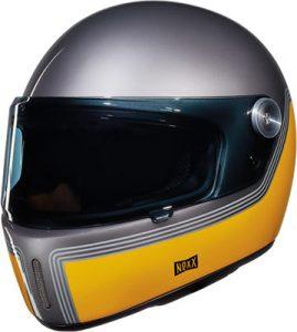 Nexx X.G100R motordrome titanium yellow front view