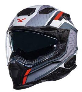 Nexx X.WST2-motrox grey red street helmet front view