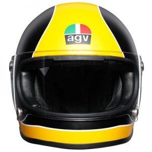 agv-x3000-matt-black-yellow-motorbike-helmet-front-view
