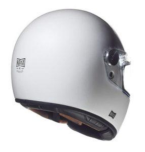 nexx x.G100R white crash helmet rear view@1x